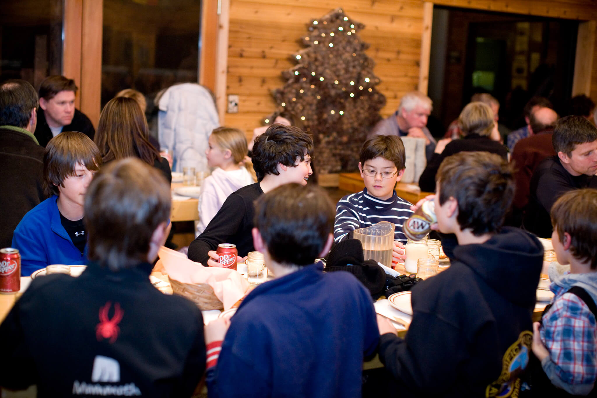 Young dinner guests at Rock Creek